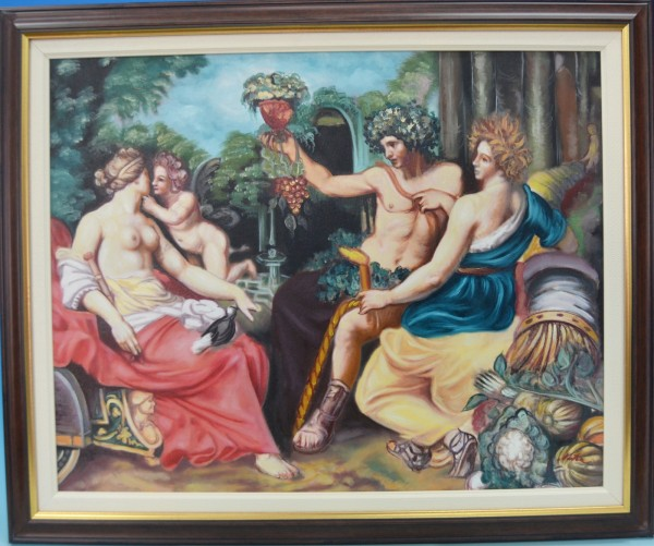 Picturi cu potrete/nuduri Bachus