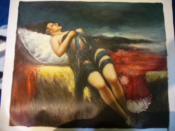 Picturi cu potrete/nuduri Somnul ...