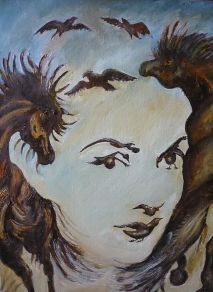Picturi cu potrete/nuduri Cai