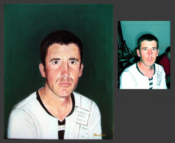 Picturi cu potrete/nuduri Portret la comanda dupa fotografie