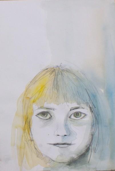 Picturi cu potrete/nuduri Girl portrait