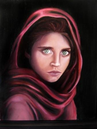 Picturi cu potrete/nuduri Fata afgana