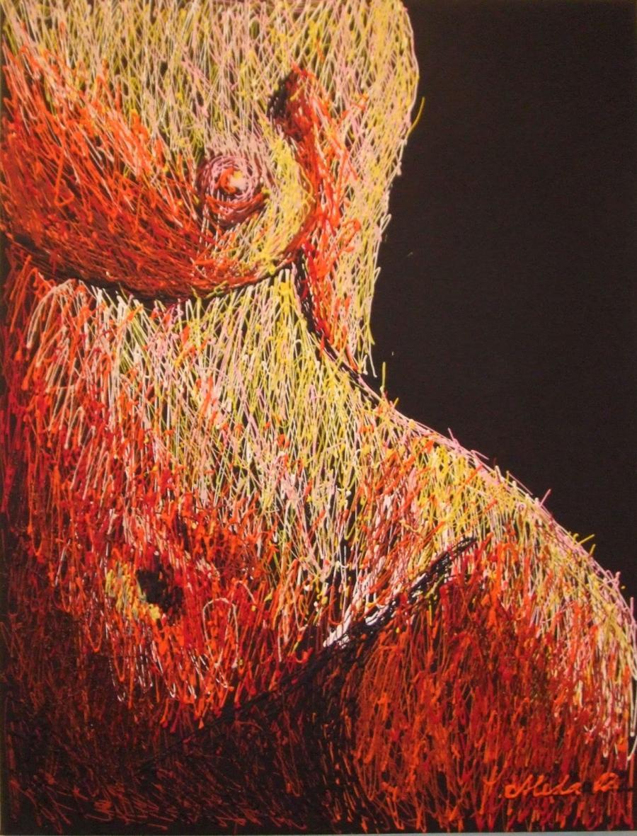 Picturi cu potrete/nuduri Detaliu nud