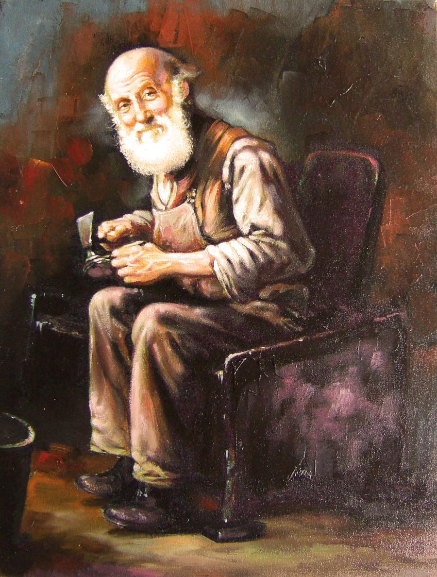 Picturi cu potrete/nuduri batran cizmar