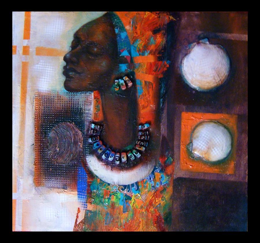 Picturi cu potrete/nuduri african girl