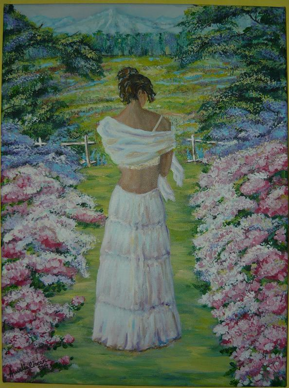 Picturi cu potrete/nuduri Vise printre flori...
