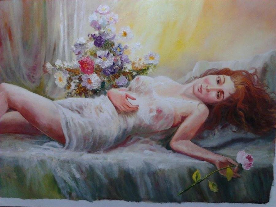 Picturi cu potrete/nuduri Visatoare