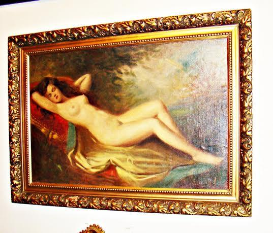 Picturi cu potrete/nuduri frumusete nud pe pat