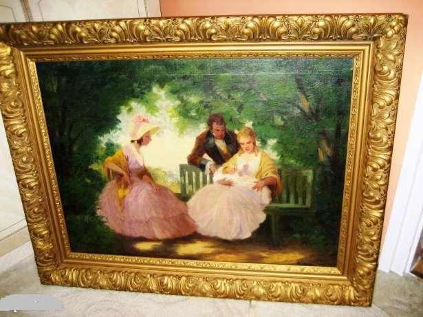 Picturi cu potrete/nuduri CUPLU IN PARC