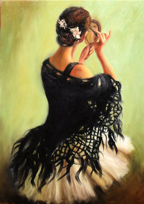 Picturi cu potrete/nuduri BALERINA 001