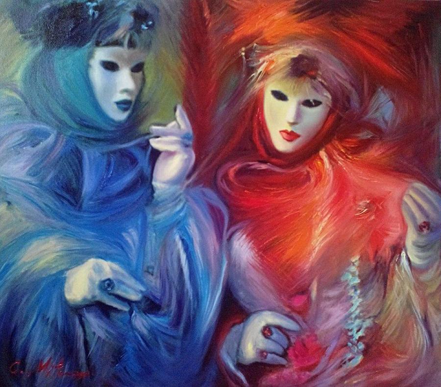 Picturi cu potrete/nuduri CARNIVAL OF VENICE