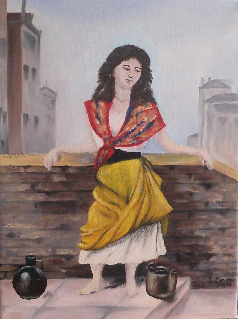 Picturi cu potrete/nuduri Fata cu ulciorul 01