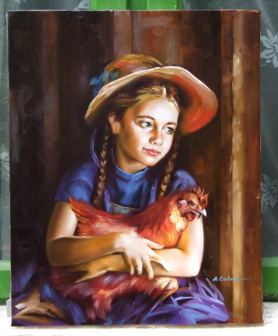 Picturi cu potrete/nuduri 1 Copilarie