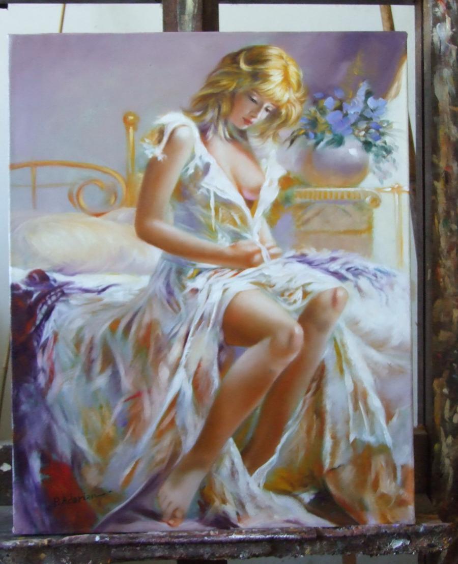Picturi cu potrete/nuduri Doamna A