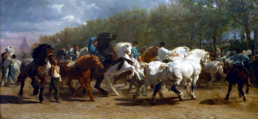 Picturi cu potrete/nuduri Rosa Bonheur - La foire du cheval