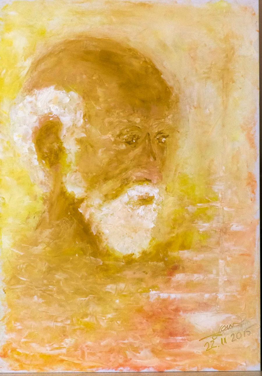 Picturi cu potrete/nuduri batranul si marea lui ...