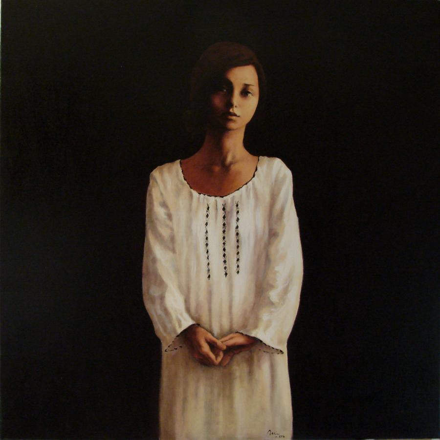 Picturi cu potrete/nuduri CAMASA ALBA