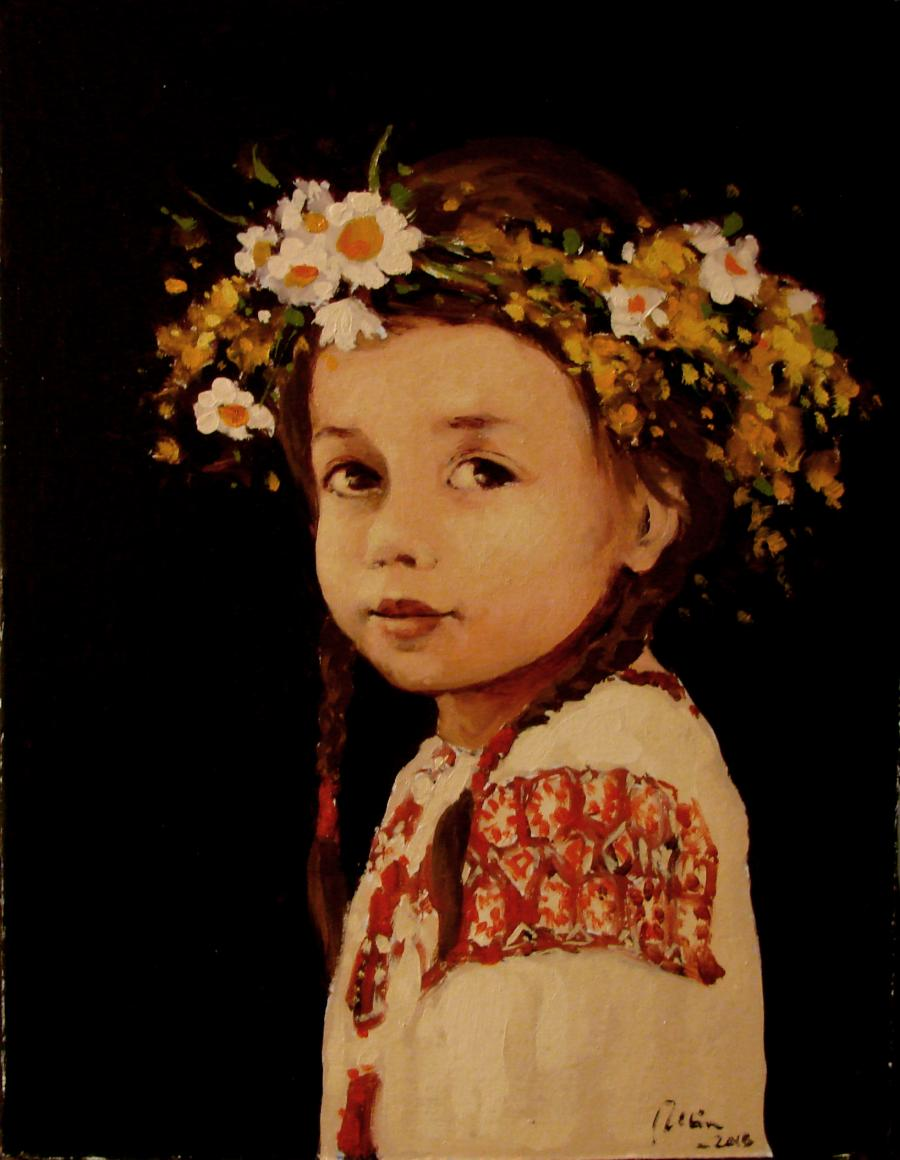 Picturi cu potrete/nuduri Coronita de flori
