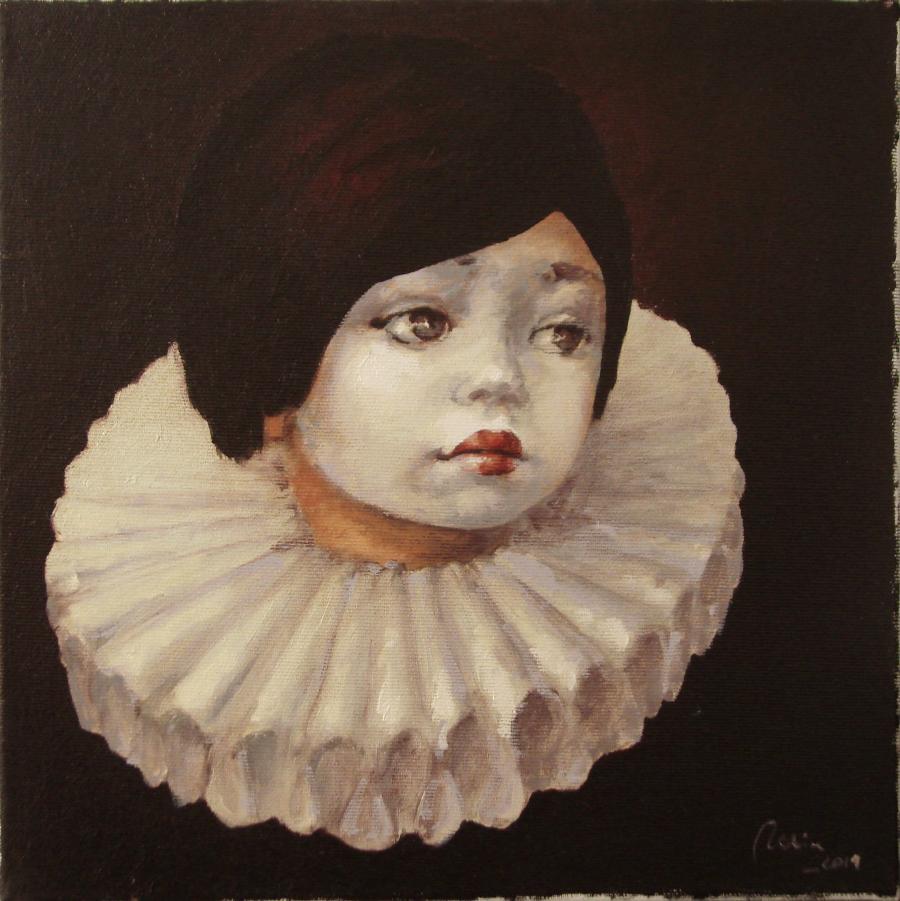 Picturi cu potrete/nuduri micul harlequin