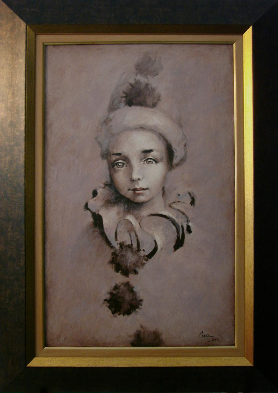 Picturi cu potrete/nuduri Micul Pierrot