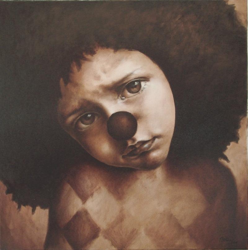 Picturi cu potrete/nuduri portret de clovn