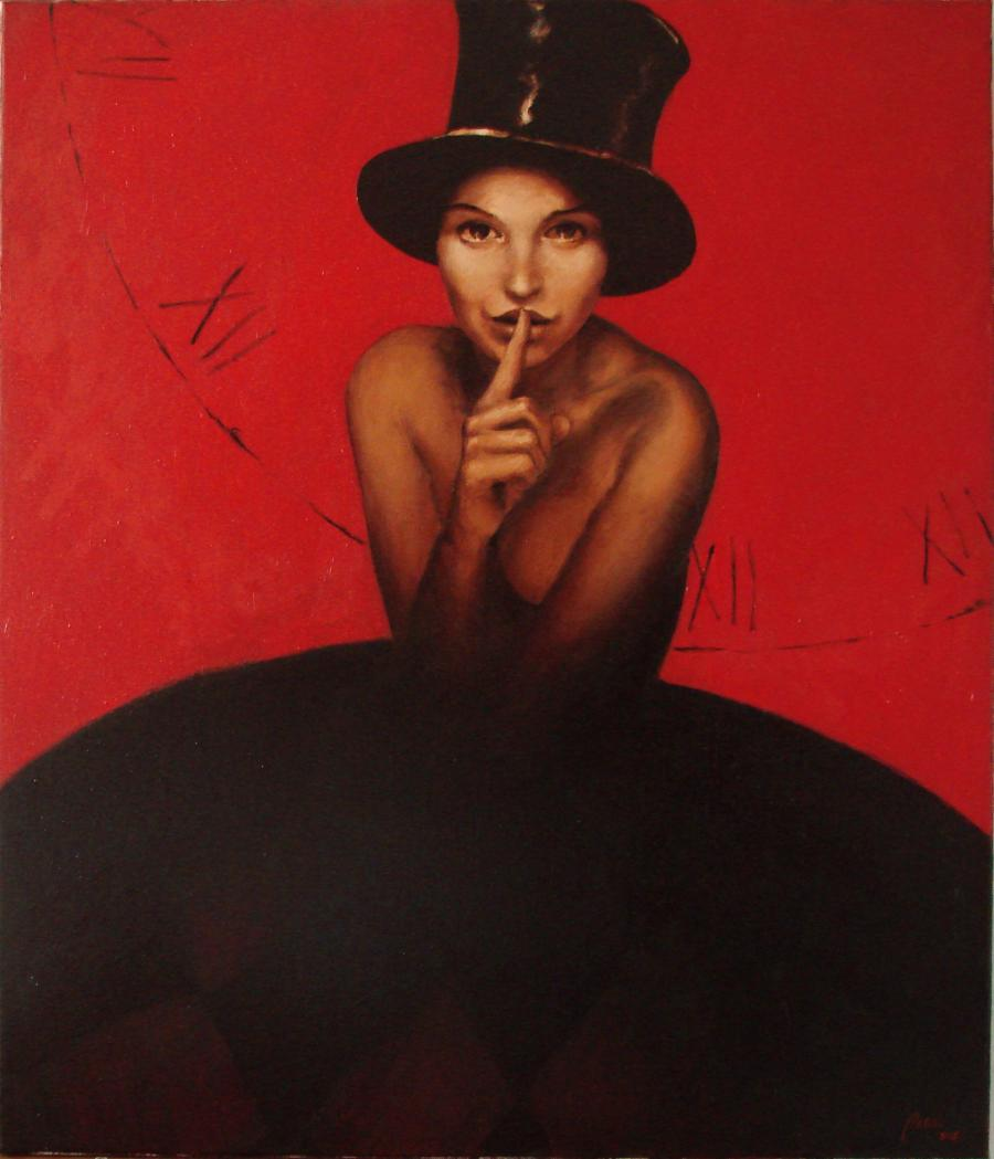 Picturi cu potrete/nuduri rosu si negru1