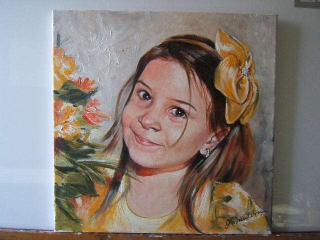 Picturi cu potrete/nuduri portret fetita 09