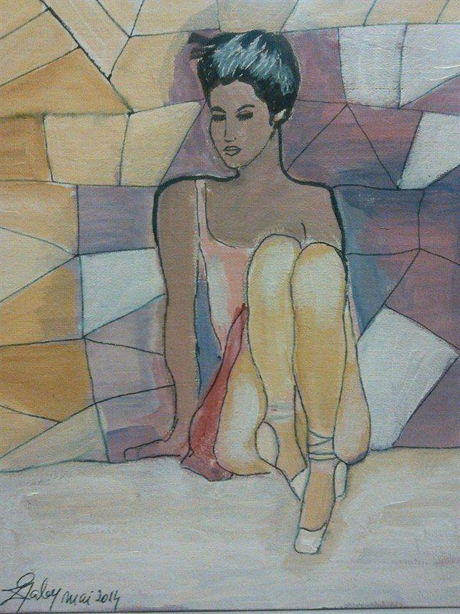 Picturi cu potrete/nuduri Balerina relaxata