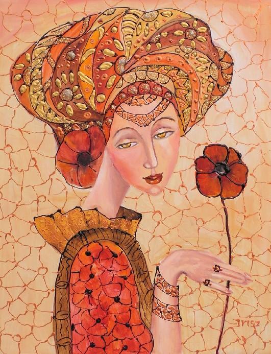 Picturi cu potrete/nuduri Fata de vara