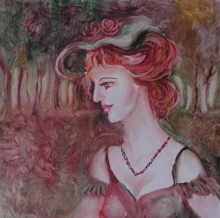 Picturi cu potrete/nuduri PLIMBARE IN PARC