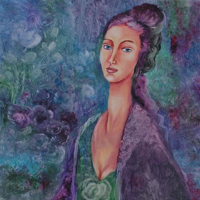 Picturi cu potrete/nuduri Violet in dimineata