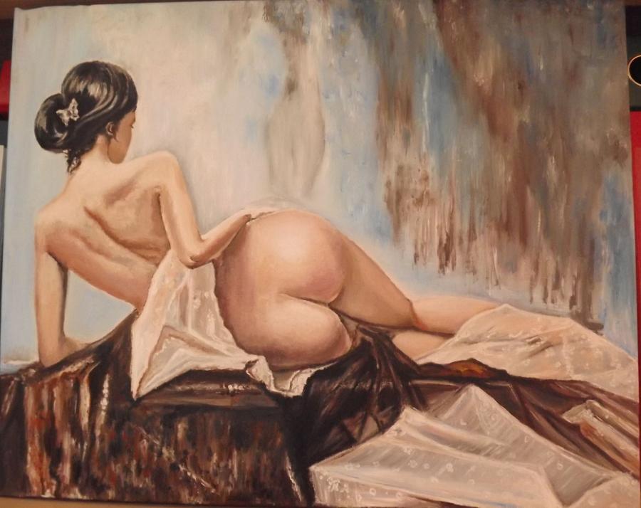 Picturi cu potrete/nuduri Nud dantelat