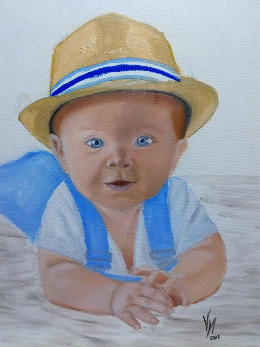 Picturi cu potrete/nuduri portret baietel