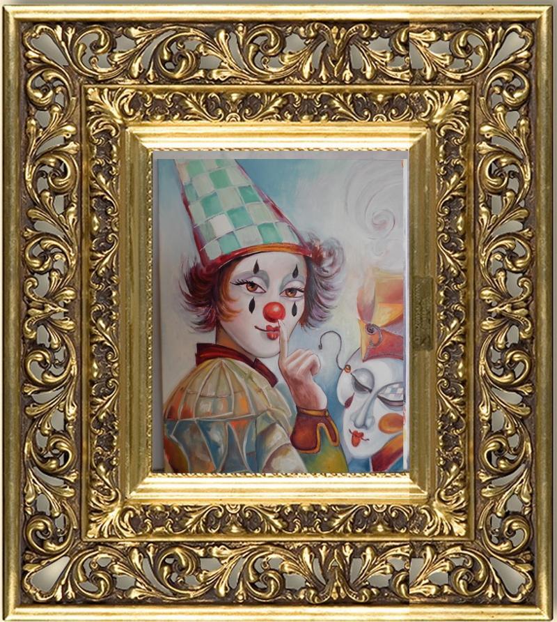 Picturi cu potrete/nuduri clown --6211