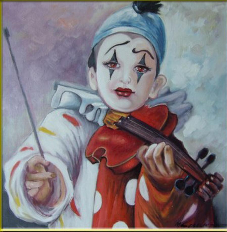 Picturi cu potrete/nuduri clown--maestrie si evolutie--z91