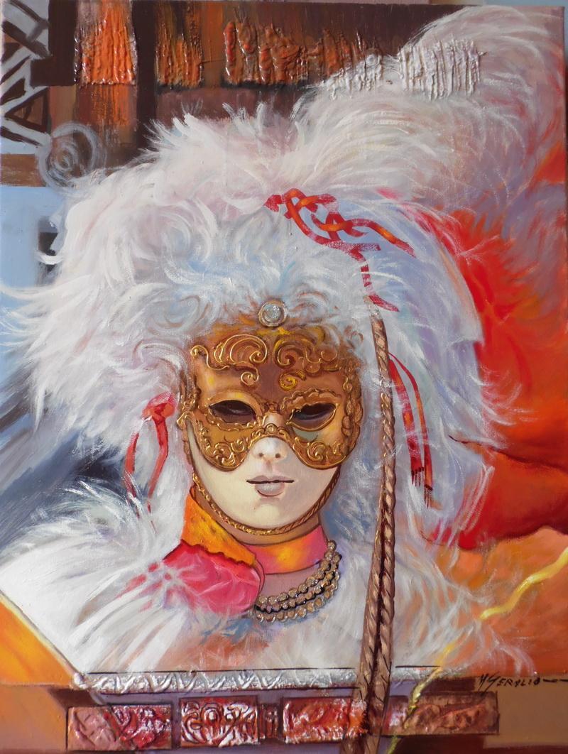 Picturi cu potrete/nuduri masca venetiana