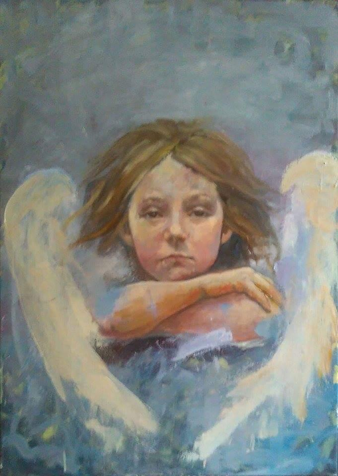 Picturi cu potrete/nuduri Inger trist
