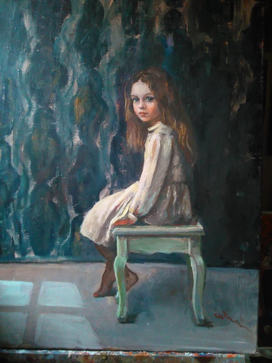 Picturi cu potrete/nuduri Singură