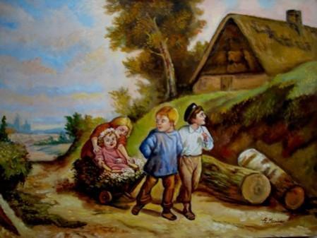 Picturi cu potrete/nuduri Cei patru frati