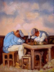 Picturi cu potrete/nuduri Doi betivi