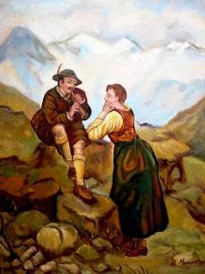 Picturi cu potrete/nuduri Idila din Tirol