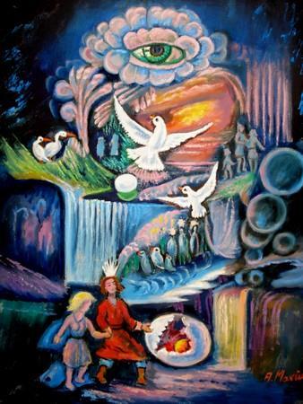 Picturi cu potrete/nuduri Ochiul magic
