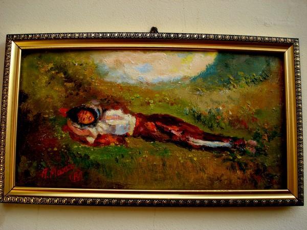 Picturi cu potrete/nuduri Tablou Odihna pe plai