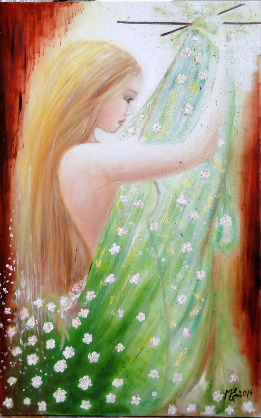 Picturi cu potrete/nuduri light and colors -blond