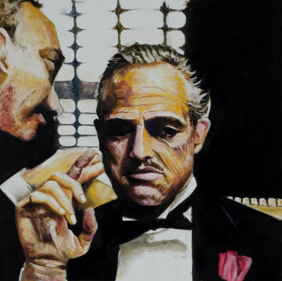 Picturi cu potrete/nuduri The godfather