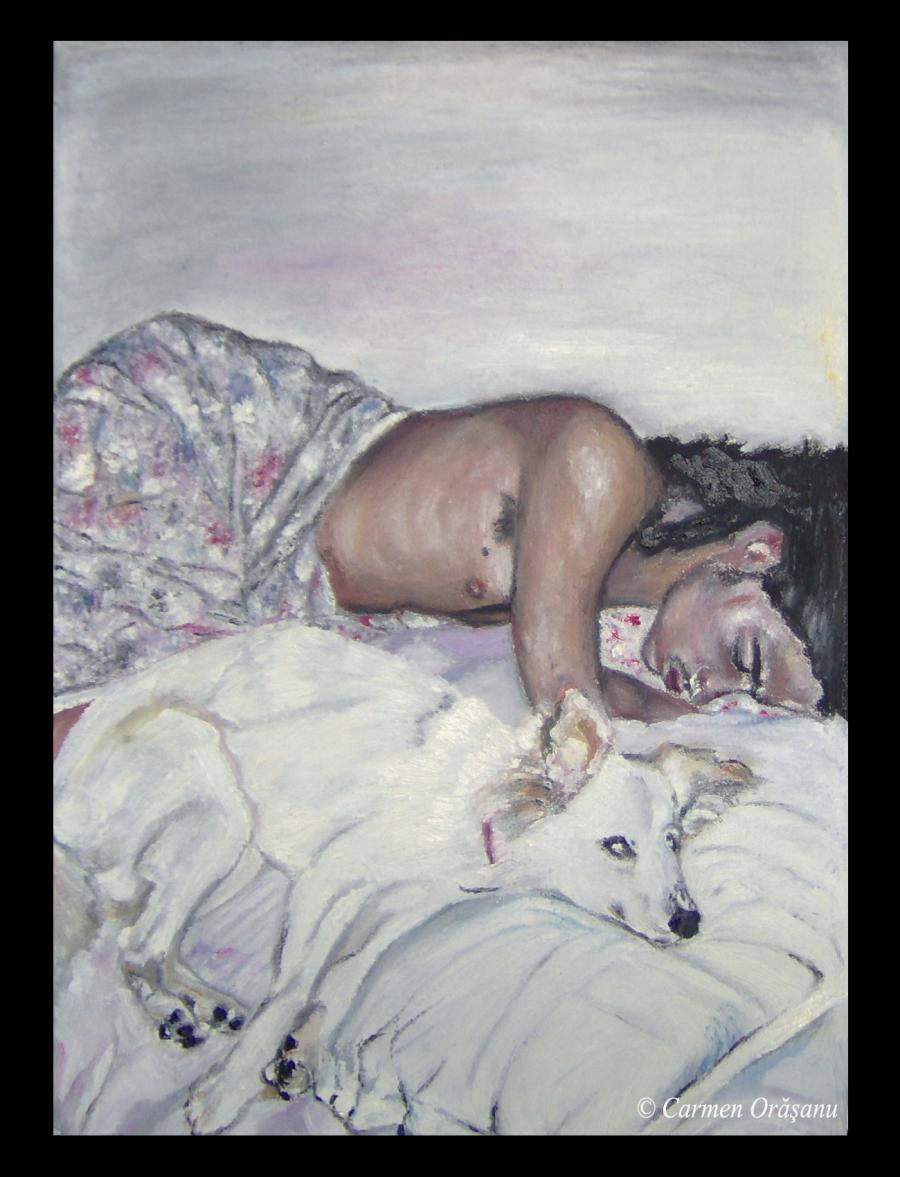 Picturi cu potrete/nuduri Tablou 3 (Odihna)- OFERTA 100 euro
