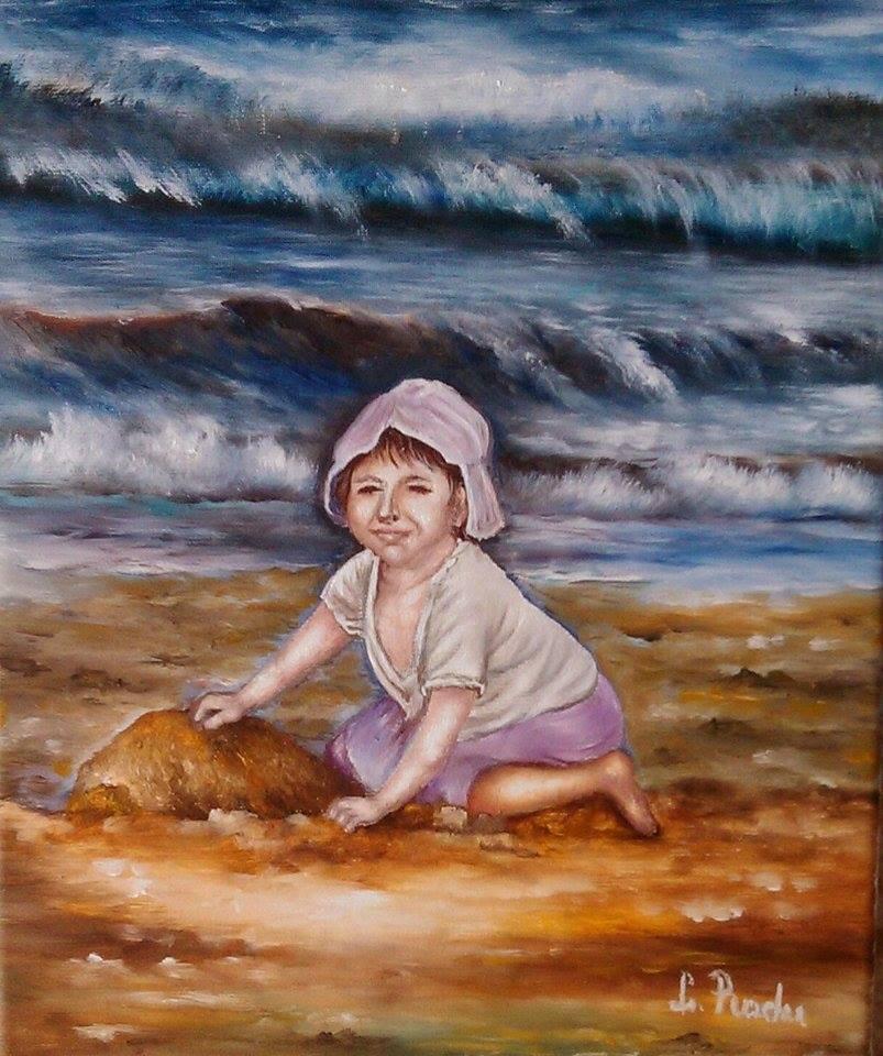 Picturi cu potrete/nuduri Fetita la tarm
