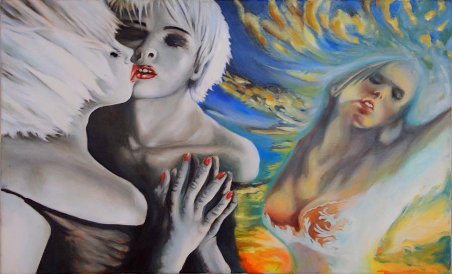 Picturi cu potrete/nuduri Oglinda sufletului