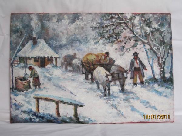 Picturi de iarna Peisaj de iarna 1