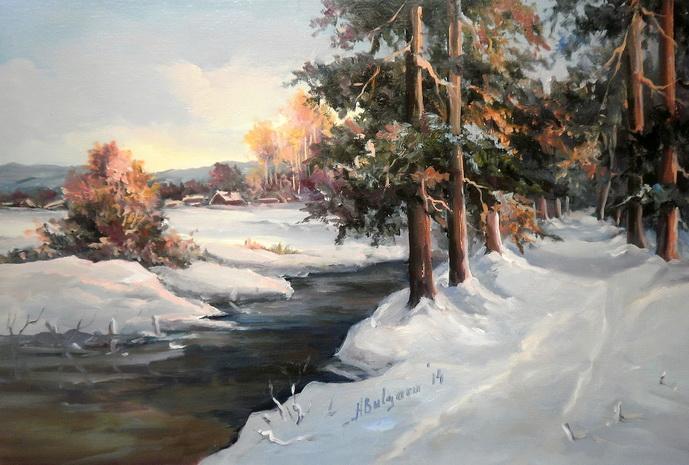 Picturi de iarna ALB LA INFINIT